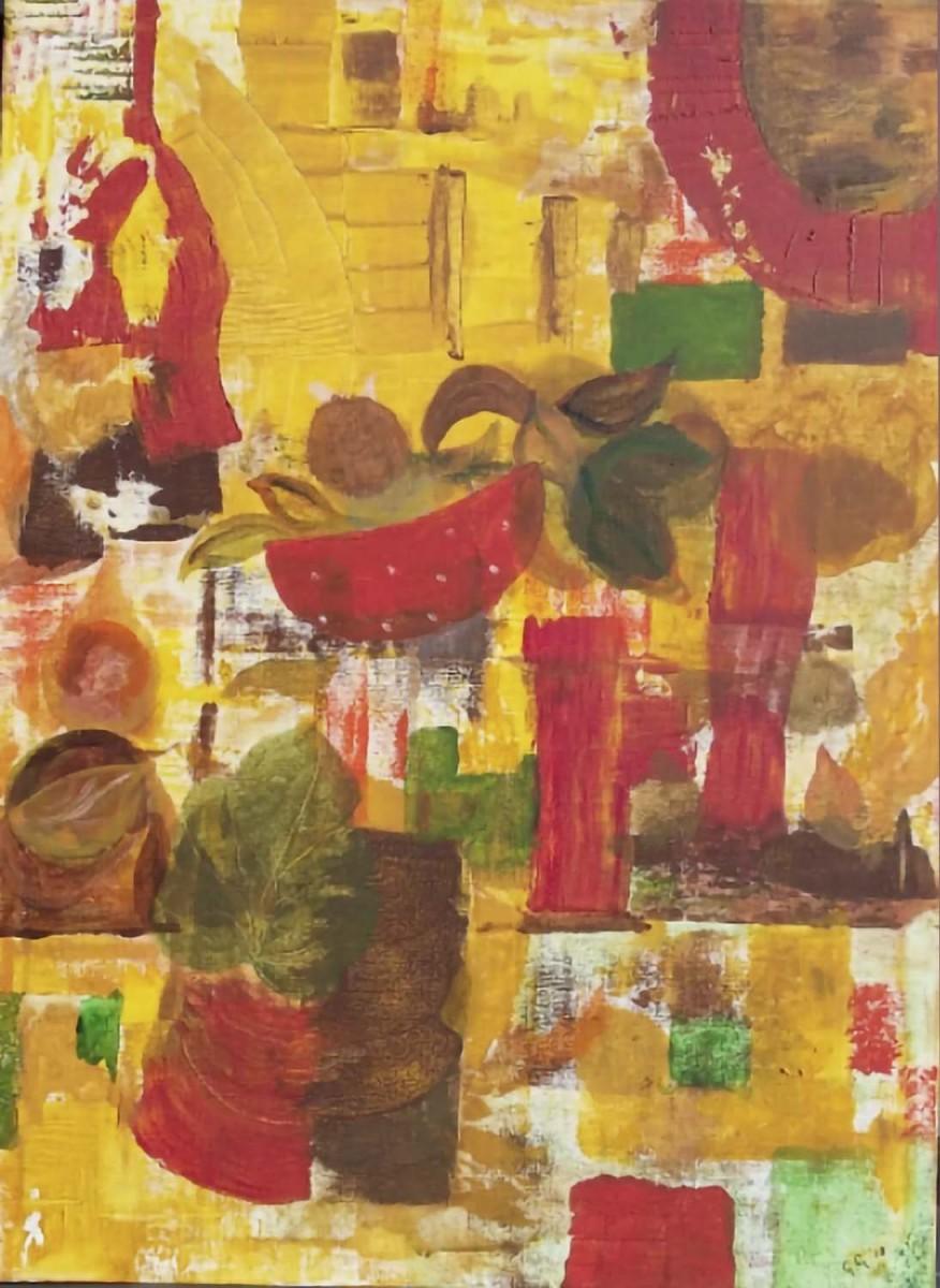 Herfst, acryl op katoen, 80x60 cm